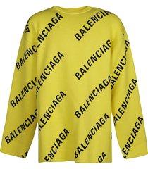 balenciaga oversized logo sweatshirt