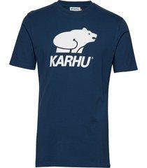 basic logo t-shirt t-shirts short-sleeved blå karhu