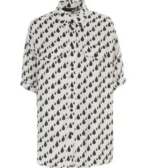 love moschino s/s shirt allover rain