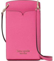 kate spade new york spencer leather phone crossbody bag - pink