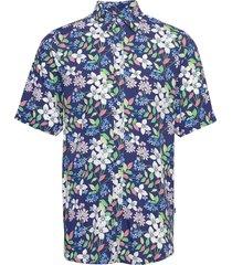 grande s/s shirt kortärmad skjorta blå denim project