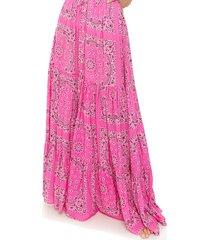 pink bandana long skirt