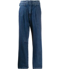 federica tosi high-waisted belted jeans - blue