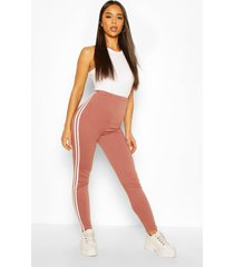 double side stripe soft legging, mauve