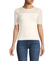 textured short-sleeve top