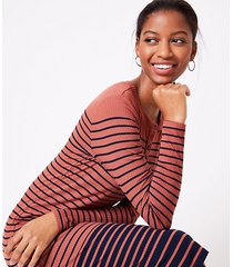 loft petite striped henley midi dress