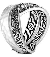 women's john hardy classic chain hammered silver band ring