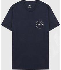 camiseta azul-blanco levis