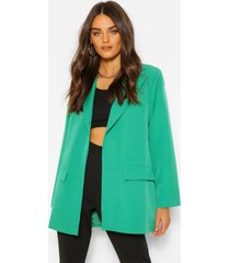 tailored oversized longline blazer, emerald