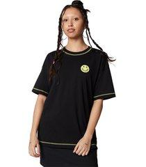 converse camiseta de manga corta happy camper boxy black