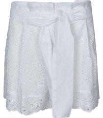 ermanno scervino laced belted waist shorts