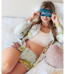 hunkemöller vävda pyjamasshorts blå