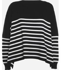 valentino cotton pullover with striped pattern
