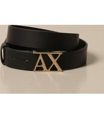 armani exchange belt faux leather with logo buckle