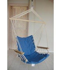 fotel hamakowy siedzisko niebieskie