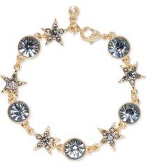 rachel rachel roy gold-tone crystal celestial charm bracelet