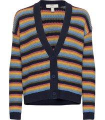 sweaters cardigan stickad tröja cardigan blå edc by esprit