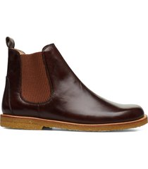 booties-flat - with elastic shoes chelsea boots brun angulus