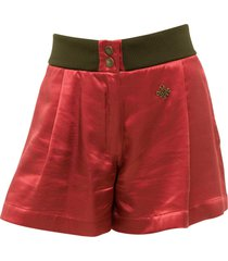mr & mrs italy fluid satin viscose shorts