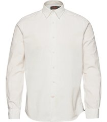 cedrik button under shirt skjorta casual vit morris
