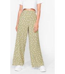 womens we've polka dot tonight wide-leg pants - sage