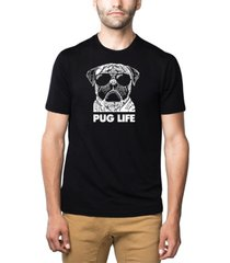 men's premium blend word art pug life t-shirt