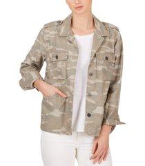 adyson parker cotton camo-print boyfriend jacket