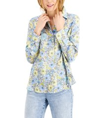 inc floral-print blouse, created for macy's