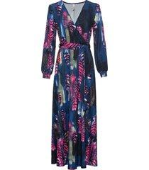 abito lungo con cintura (blu) - bodyflirt boutique