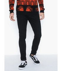 abrand jeans a dropped skinny turn up - black mirror jeans svart