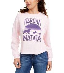 disney juniors' hakuna matata long-sleeve t-shirt