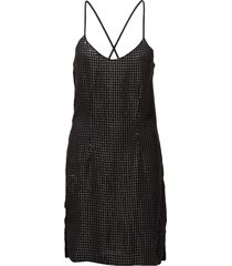 stevey cami dress korte jurk zwart hunkydory