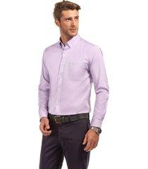 camisa manga larga oxford premium morado ferouch