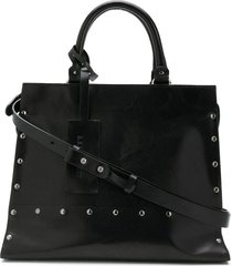 a.f.vandevorst stud medium tote bag - black