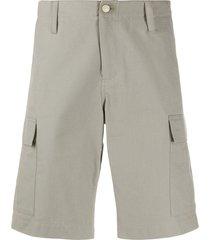 a.p.c. x carhartt wip cargo pocket bermuda shorts - grey
