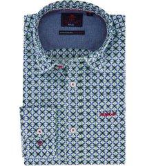 new zealand overhemd groen printje mc kay