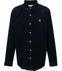 carhartt corduroy button-down shirt - blue