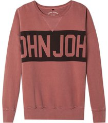 moletom john john big sign marrom masculino (marrom, gg)