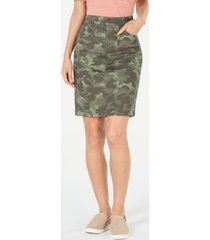 style & co cotton denim skirt, created for macy's