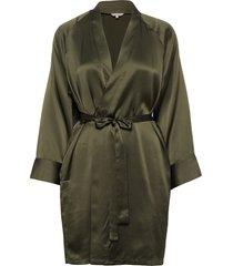 kimono morgonrock grön lady avenue