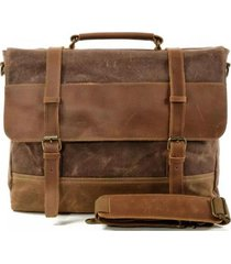 bolso maletín viajero lona marrón millam