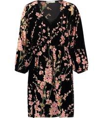 freebird floor velvet flower jurk