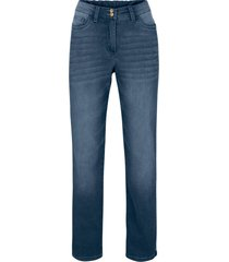 jeans termici push-up con cinta comoda straight (blu) - bpc bonprix collection