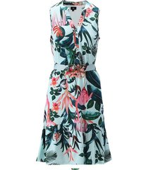 k-design jurk mouwloos print en extra riem