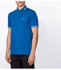 boss men's paul slim-fit polo shirt in stretch pique