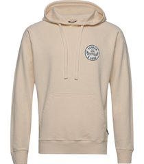 relaxed hoodie in organic cotton felpa hoodie trui beige scotch & soda