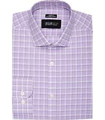 awearness kenneth cole purple plaid extreme slim fit dress shirt