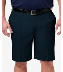 "haggar men's big & tall cool 18 pro classic-fit stretch flat-front 9.5"" shorts"