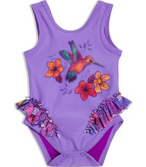 vestido de baño entero violeta offcorss