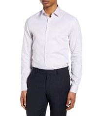 men's boss slim fit diamond dress shirt